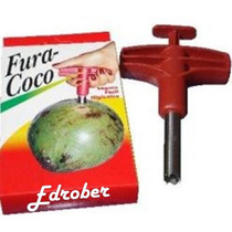 Fura Coco Furador Abridor Verde Manual Cozinha Formas Praia