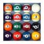 Bola Numerada C/ Faixa 38mm Bilhar Snooker/ Sinuca/ Pebolim