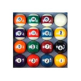 Bola Numerada C/ Faixa 25mm Bilhar/snooker/sinuca /infantil