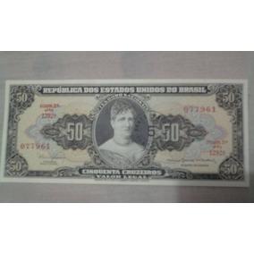Cedula Nota De 50 Cruzeiros 2º Estampa Serie 1292 Fe