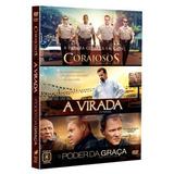 Dvd Corajosos + A Virada + O Poder Da Graça - Box 3 Dvds