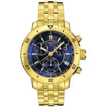 Relógio Tissot T-sport Prs 200 T067.417.33.041.00 Gold Blue