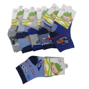 Meias Infantil Menino Kit Com 12 Pares De 24a28