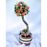 Arranjo Floral - Flores Artificiais De Seda - Topiaria