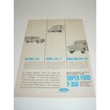 ( L - 290 ) Propaganda Antiga Caminhão Ford F-350 1964