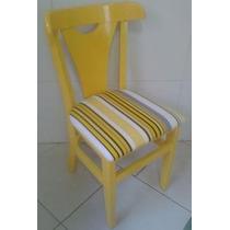 Cadeira Colorida Pamplona, Em Madeira