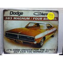 Dodge Charger 383 Dukes Letrero Anuncio Retro Vintage Poster