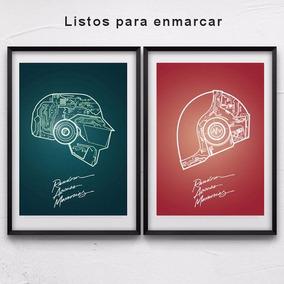 Pack 3 Posters Daft Punk - A3 Y A3 Plus - Premium - 260 Gr.