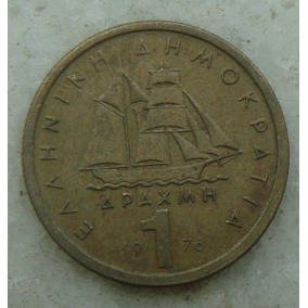 9458 Grecia 1 Drachma, Apaxmai 1976 - 20mm, Bron/alum Barco