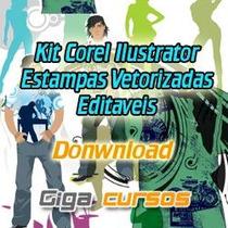 Pacote Estampas Vetorizadas Silk Screen Vetor Corel Desenhos