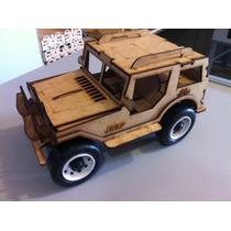 Kit 15 Jeep Feito Em Mdf Brinquedo Carrinho Corte Laser