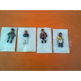 Lote X 4 Figuras De Goma Gauchitos Antiguos Nuevos