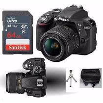 Câmera Digital Nikon D3300 Lente 18-55mm +bolsa +tripé +64gb