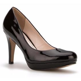 Zapatillas Negras Zapatos Pumps Andrea Negros Charol Bajitos