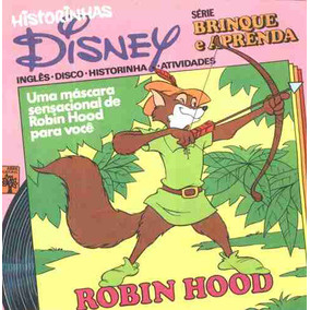 Historinhas Disney 25 Compacto De Vinil+livreto Robin Hood