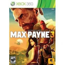 Jogo Midia Fisica Lacrado Tiro Rockstar Max Payne 3 Xbox 360