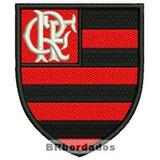 Patch Bordado Flamengo Trj009 Escudo Símbolo Brasão Urubu