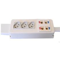 Caixa De Elétrica Dados Voz Tomadas Keystone P/ Mesa Branco