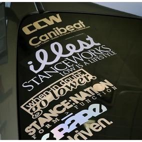 Adesivo Carro Rebaixado Tuning Personalizado Fixa Jdm Euro
