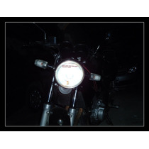 Lampada Dupla Super Branca Efeito Xenom H6 Biz Bros35w 5000k