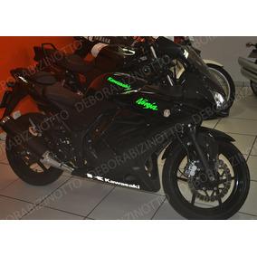 Kit Adesivos Kawasaki Ninja 250 R Refletivo / Fibra Carbono