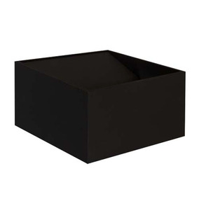 Luminario Arbotante Cubo Sobreponer Muro Negro 4.5w Illux