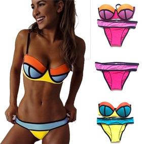 Bikini Sexy Malla Push Up Taza Soft Vedetina Verano 2018