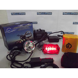 Lanterna Led T6 Farol Bike Cabeça K 220000w + Bateria 6 Celu