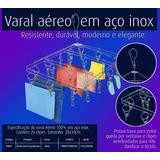 Mini Varal Retangular - Roupa Intima 100% Inox