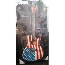 Quadro De Parede Auto Relevo Guitarra Violão Metal A60 L30