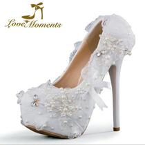Sapato Scarpin Noiva Debutante Festa C/ Renda Pérolas Flores