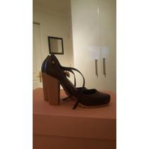 Zapato Mujer Melissa Taco Alto Color Burdeo