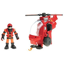 Juguete Fisher-price Hero World Rescue Hereos Hal E. Helicó