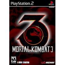 Patch Jogo Mortal Kombat 3 Play 2 Ps2 Playstation2 Mk3 Ps 2