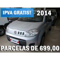 Uno 2014 Quatro Portas Zero De Entrada 60 X 699,00!!!