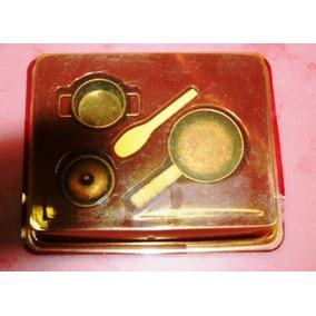 Antiga Jogo De Utensílios Para Cozinha Miniatura Raridade