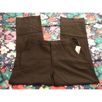 Pantalon Negro C/rayas Blancas Zara P/dama Talla 10-36 Nuevo