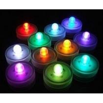 12 Velas Led Sumergible Multicolor Centros De Mesa Luz