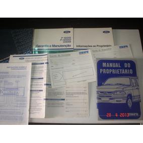 Manual Pick Up Ford Sr Deserter F1000 Original Lx Xk Turbo