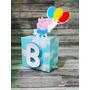 Caixa Cubo 3d Festa George Peppa Pig Aniversário Decor C/10