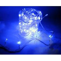 Pisca Pisca Led Azul Natal 100 Lampadas 8 Funções 8 Metros