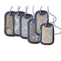 Dog Tag Placa De Identificação Personalizadas Vários Modelos