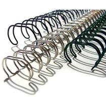 Caixa Espiral Garra Duplo Anel Wire-o 2x1 Carta 5/8 120 Fls