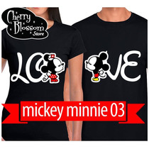 Gratis Envio Dhl! Playeras Novios Parejas Mickey King Queen