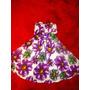 Vestido Com Detalhes Florais Lilás