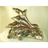 Escultura Em Pet Bronze Metal E Prata 90