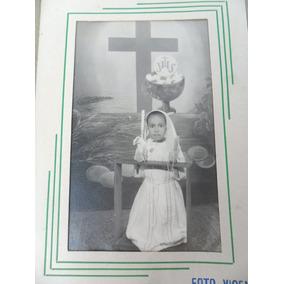 Foto Antiga Menina Primeira Comunhão
