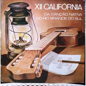 Lp Xii Califórnia Canção Nativa Do Rs 1982 Polyfar C/ Encart
