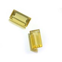 Par De Pedras Preciosas Topazio Amarelo Naturais J11061