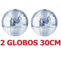 2 Globos Espelhado 30cm Diametro Dj Festa Evento Iluminação